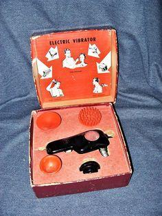 1945 Model Hand-E Wahl Massager Vibrator Original Box With 4 Attachments EUC #WahlClipperCorp