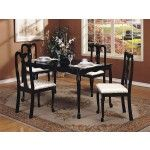 Acme Furniture - Queen Ann 5 pieces Dining Set in Black - 06006   SPECIAL PRICE: $501.90