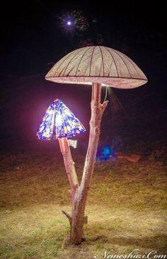 Ozora Festival. Mushroom sculpture