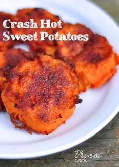 It's popular for a reason - it's the best thing you will ever make! The original and the most pinned recipe on the blog: Crash Hot Sweet Potatoes on the The Creekside Cook