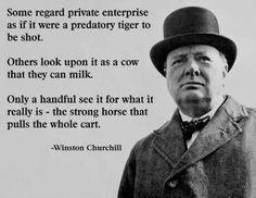 How do you view free enterprise?
