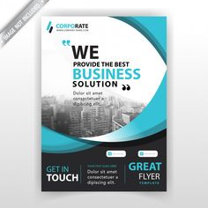 Company booklet cover template Free Vector Brochure Design Layouts, Brochure Cover Design, Graphic Design Flyer, Web Design, Corporate Brochure Design, Flyer Design Templates, Booklet Cover Design, Cover Template, Free Poster