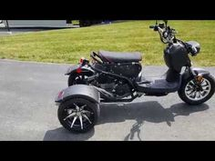50cc Trike Mean Dogg II Scooter Gas Moped Gas Scooters For Sale, Mopeds For Sale, Trike Scooter, Trike Motorcycle, Gas Moped, 3rd Wheel, 50cc, Motorbikes, Dogs