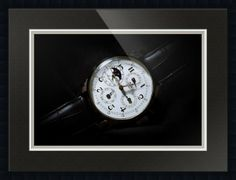 "Breguet Moonphase Triple Calendar Swiss Watch // Paper: enhanced matte; Glazing: acrylic; Moulding: black, gallery black; Top Mat: black/gray, nightshade; Middle Mat: white/cream, canvas; Bottom Mat: black/gray, granite // Price starts at $153 (Petite: 19.25"" x 22.25""). // Customize at http://www.imagekind.com/Breguet-Moonphase-Triple-Calendar-Swiss-Timepiece_art?IMID=60cf7cc5-000e-433f-9585-738260b6974f"