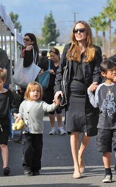 Angelina Jolie, Shiloh, Knox & Pax