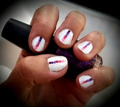 Pink rainbow nail art short nails. #opi #starttofinish #purplewithapurpose #doyoulilacit #pinkflamenco #ifyoumoustyoumoust #italianloveaffair #princessesrule!