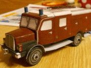 IFA S4000-1 Fire Engine Free Vehicle Paper Model Download