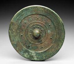 Mirror, Japanese, Kofun period, 5th century, Bronze, MFA