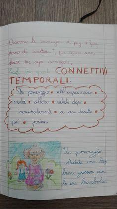 Classe Terza- Italiano- Maggio-Laboratorio di scrittura: i connettivi - Maestra Anita World Languages, Vocabulary, Bullet Journal, Teaching, Education, School, 3, Geography, Alphabet