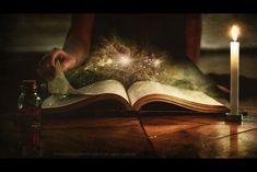 black magic book of shadows in art Fantasy Witch, Fantasy Kunst, Fantasy Art, Black Magic Removal, Black Magic Spells, And So It Begins, World Of Books, Magic Book, I Love Books