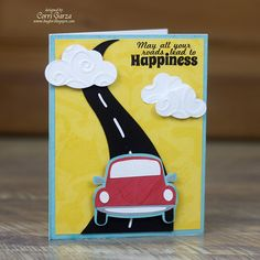 Terrific Tuesday Challenge - Things That Go! Boy Cards, Kids Cards, Cute Cards, 16th Birthday Card, Birthday Cards For Boys, Homemade Birthday Cards, Homemade Cards, Goodbye Cards, Car Card