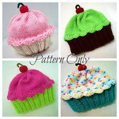 Knitting Pattern Cupcake Hat pay pattern