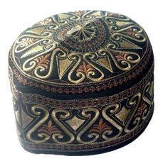 Islam-Prayer-Cap-Muslim-Kufi-Hat-Islamic-Men-Skull-Topi-Headware-Clothing-Brown