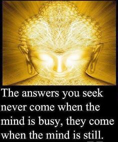 ✨the answers you seek never come when the mind is busy, they come  when the mind is still.✨