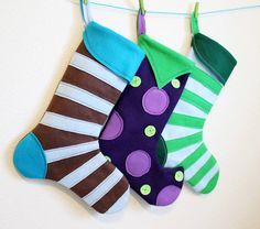 felt stocking. Handmade Christmas Stockings. http://www.hobbycraft.co.uk/christmas #christmas #stocking #handmadechristmas