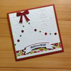 ULTIMATE CRAFTS Deck the Halls & Banners dies sample card