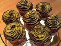 Boston Cream Cup Cakes