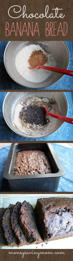 Freezer-Friendly Chocolate Banana Bread -- this is the BEST Banana Bread recipe! so easy to make and turns out delicious every single time. Whip up a double batch to keep on hand for a quick snack or dessert! Just Desserts, Dessert Recipes, Do It Yourself Food, Chocolate Banana Bread, Chocolate Chips, Snacks, How Sweet Eats, Sweet Bread, Love Food