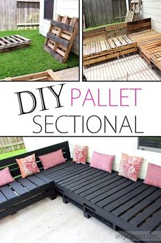 Pallet Furniture Diy Patio Sectional Diy Pallet Furniture Patio Furniture Sectional Diy Furniture Diy Outdoor Living Home Decor Patio Makeove Patio Decor Deck Decorations Porch Decorations Gardening Pallet Furniture Shelves, Patio Furniture Makeover, Pallet Garden Furniture, Diy Outdoor Furniture, Furniture Ideas, Furniture Layout, Rustic Furniture, Antique Furniture, Bedroom Furniture