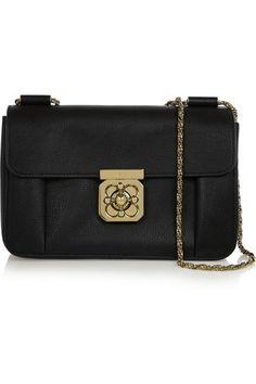 Elsie medium textured-leather shoulder bag | Chloé