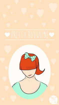 Peach Pretty Redhead Hearts iPhone Wallpaper Lock Screen @PanPins