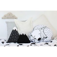 SOLD OUT - Sleeping Bear Cushion - Homely Creatures