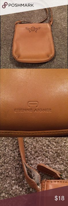 Aigner cross body Purse measures 9x9, strap drop is 22 inches, straps need some work. Inside is very clean, very soft leather aigner Bags Crossbody Bags