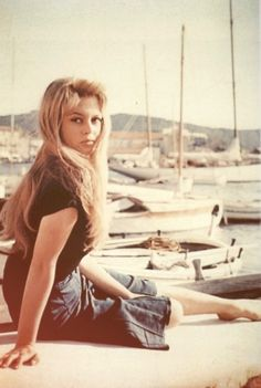 "Brigitte Bardot filming ""And God Created Woman"" (1956) filmed before I was born, but watched with my mom. Bardot was the most beautiful woman in the world to me, when I was a child, and got to say I would still not mind looking like her, as I tried as a child. lol"