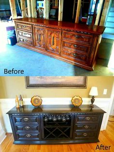 Dresser Turned Buffet That My Husband And I Did