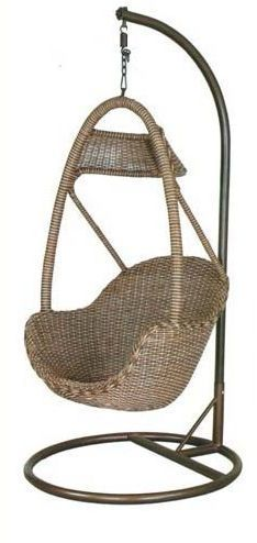 Indoor Rattan Swing Chair With Stand