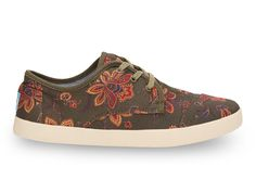 undefined Olive Canvas Floral Women's Paseos