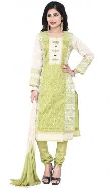 Mehendi Green Color Chanderi Silk Straight Cut Readymade Churidar Kameez #salwar, #kameez, #readymade, #anarkali, #patiala, #pakistani, #suits, #online, #stitched, #indian, #dress, #material, #shopping, #fashion, #boutique, #mode, @heenastyle