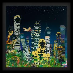 Chiho Aoshima - City Glow.  My first piece of purchased artwork, after being inspired by her subway exhibition here in NYC.