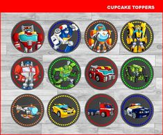 This item is unavailable My Son Birthday, 4th Birthday Parties, Birthday Cakes, Birthday Ideas, Rescue Bots Birthday, Transformer Birthday, Valentine Cake, Cupcake Party, Cupcake Toppers