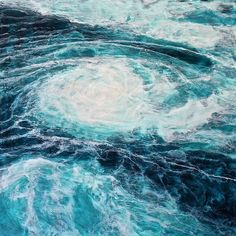 Gray Jacobik - Charybhis 2014 encaustic on panel Landscaping On A Hill, Driveway Landscaping, Fantasy Landscape, Abstract Landscape, Abstract Art, Landscape Pavers, Ocean Pictures, Ocean Pics, Encaustic Art