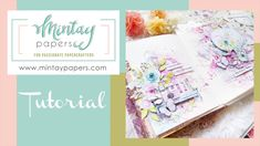 """#49   Art journal spread with """"Happy place"""" collection   Janus Aragones ... Paper Manufacturers, Janus, Fb Page, Art Journal Inspiration, Crafty, Make It Yourself, Happy, Youtube, Projects"""