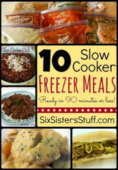 10 Slow Cooker Freezer Meals in 90 Minutes Or Less
