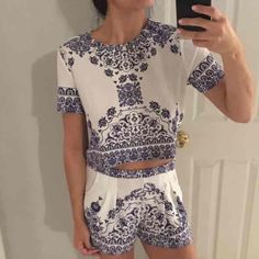Brand new two piece outfit Brand new two piece outfit. Absolutely no trades, please don't ask! Tops Crop Tops