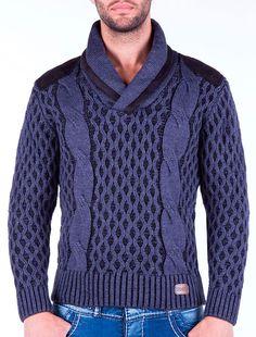 Jersey de Punto Hombre Azul Klein #fashion #chueca