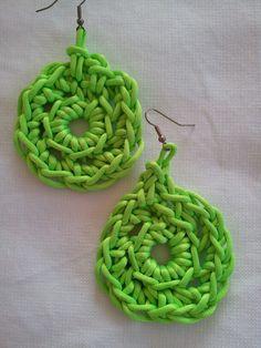 orecchini a crochet con filato coda di topo