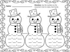 WINTER MATH FUN FREEBIE (10 PRINTABLE MATH PRACTICE PAGES FOR WINTER!) - TeachersPayTeachers.com