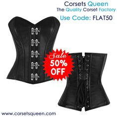 Leather Corset, leather fashion corset, leather fancy corset, black leather corset, black overbust corset dress, Grace-Overbust-Corset