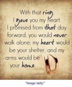 with that ring. love quotes