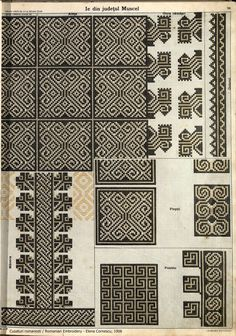 Hungarian Embroidery, Embroidery Motifs, Learn Embroidery, Machine Embroidery, Embroidery Designs, Sewing Leather, Antique Quilts, Pattern Books, Cross Stitching