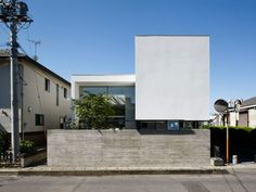 Incredible Cool and compact - dream home within the massive metropolis. Arch House, Facade House, House Front, Concrete Architecture, Residential Architecture, Minimalist Architecture, Contemporary Architecture, Facade Design, Exterior Design