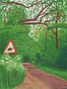 The Arrival of Spring in Woldgate, East Yorkshire in 2011  / David Hockney