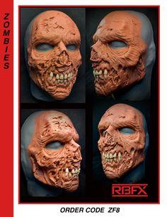 Cool Masks, Best Masks, Creepy Masks, Prosthetic Makeup, Sfx Makeup, Foam Carving, Zombie Mask, Traditional Sculptures, Movie Props