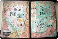 "some older ""in progress"" journal pages #art #journal #journaling #artjournal #mixed media"