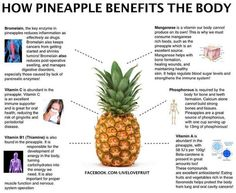 Pineapple is helpful for endometriosis due to the anti-inflammatory action of bromelein - as well as the other benefits of course