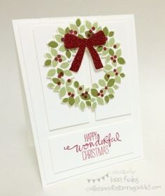 Wondrous Wreath :: Confessions of a Stamping Addict Lorri Heiling